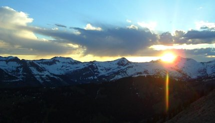 Sunset over the mountains at Crested Butte, CO