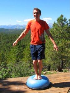 Standing on Bosu Balance Trainer