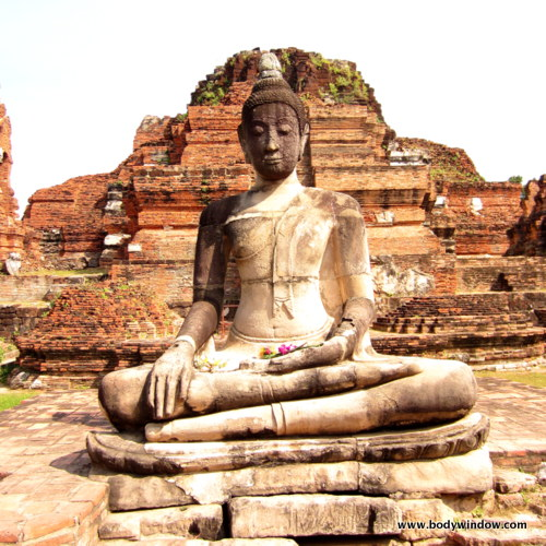 Ayutthaya, Thailand, temple ruins of the old Siam.
