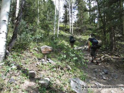 Weimenuche Wilderness sign at Colorado Trailhead