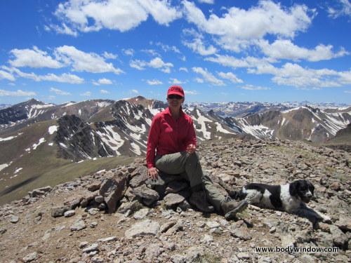 Summit of Point 13811 near Lake City, CO