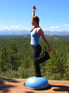 Modified Dancer's Pose on the Bosu Ball