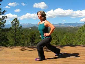 Lunge using Gliding Disc