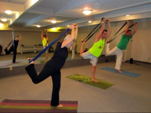 Dancer's Pose with a Yoga Strap
