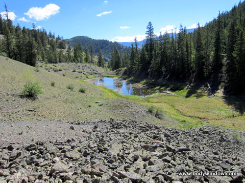 Beaver Pond and Moraine along the Williams Creek Trail near Lake City, CO