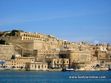 Valletta, Malta, as seen from the Harbour