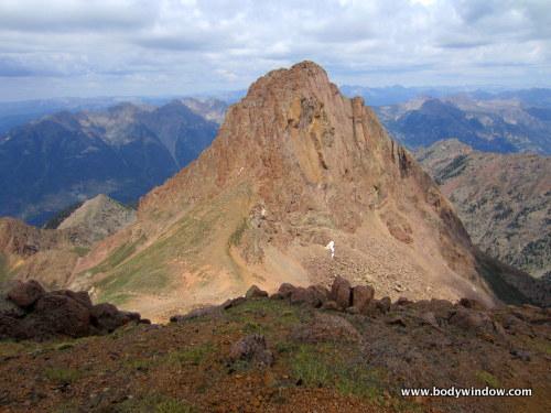 Pigeon Peak from the summit of Turret Peak