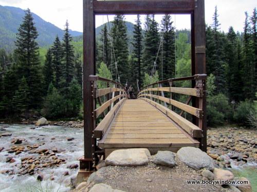 Suspension Bridge across the Animas River ~ Gateway to the Lofty Heights