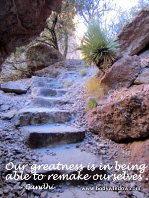 Catwalk Steps on the trail, Glenwood, NM