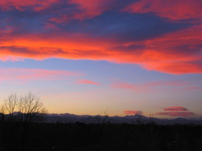Sunrise over Long's Peak and the Front Range, Colorado