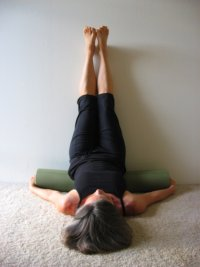Legs Up the Wall Pose with Support, Wall Yoga