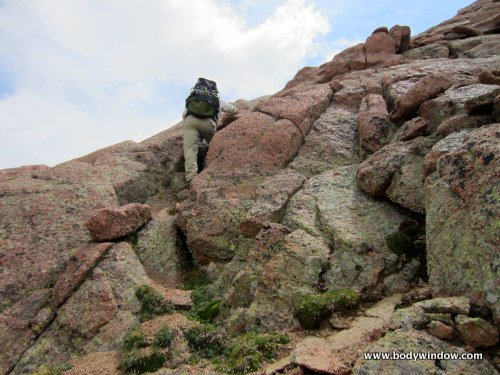 V-Slot of Northwest ridge on Turret Peak