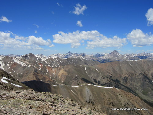 View from Point 13811 of Wetterhorn and Uncompahgre