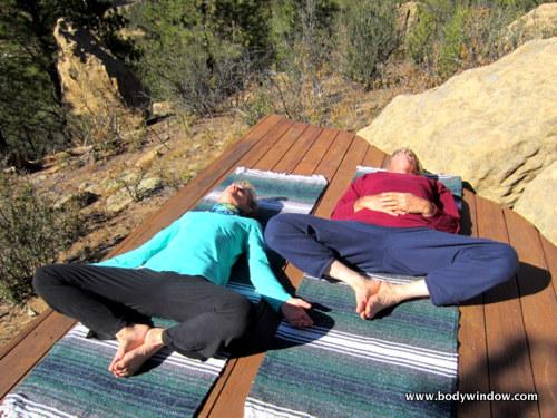Lying Butterfly Pose in Yin Yoga