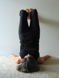 Wall Yoga, Shoulder Stand