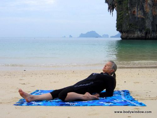 Yin Yoga, Half-Saddle Pose, Halfway Position