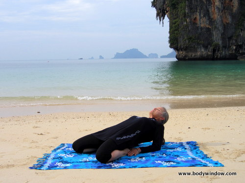 Yin Yoga, Saddle Pose, Halfway Position
