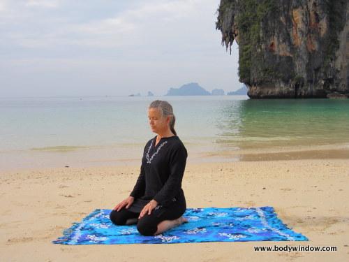 Yin Yoga, Saddle Pose, Starting Position