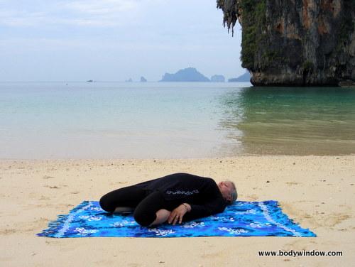 Yin Yoga, Saddle Pose, Full Lying Position