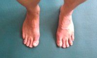 Proper foot position for Tadasana