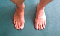 Proper foot position for Tadasana