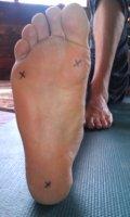 Proper grounding for yoga poseson tripod of feet.